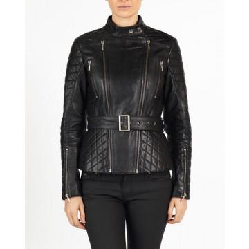 Dalia Women Designer hELium Biker Leather Jacket