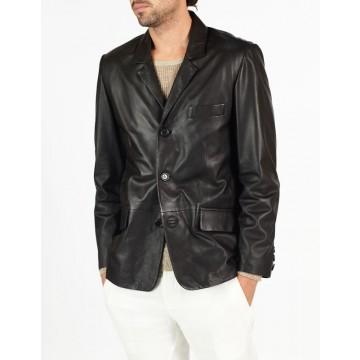 Renzo classic leather blazer by hElium