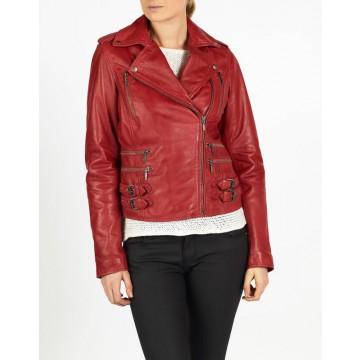 Alisa leather biker jacket by hElium
