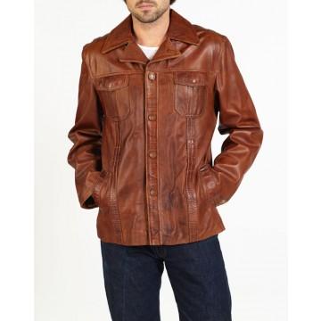 Fabio trendy designer leather jacket by hElium