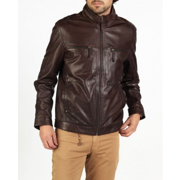 Dino designer blouson style leather jacket by hElium