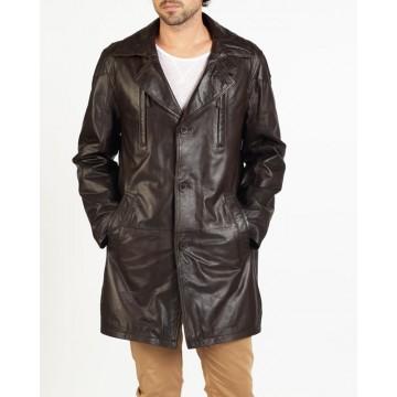 Carlo designer leather coat by hElium