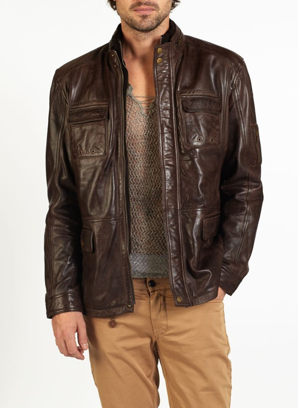 f3ad65632 Tino safari style leather jacket by hElium hE^2