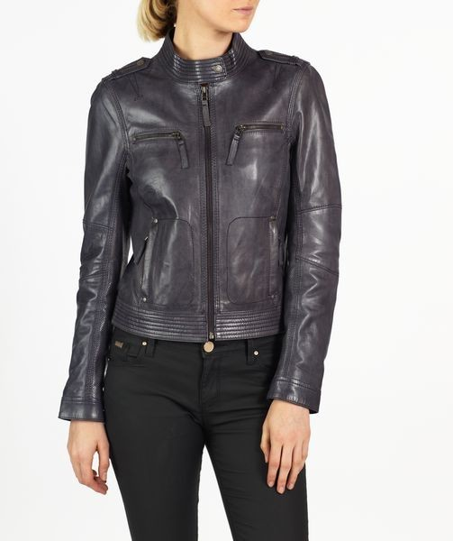 Tania hELium Women Classic Leather Biker Jacket hE^2