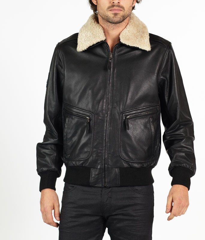 Romano classic pilot style leather jacket by hElium | Leather ...