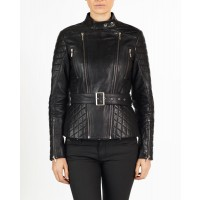 Dalia Women Designer hELium Biker Leather Jacket