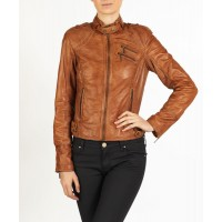 Fiorella Retro styled leather jacket by hElium