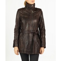 Tamia leather coat by hElium