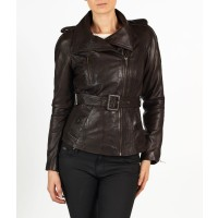 Anaya hELium Women Fashion Biker Leather Jacket