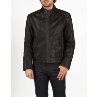 Leonardo combined leather bomber and biker jacket by hElium