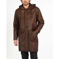 Marco leather duffle coat by hElium