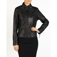 Nicole women leather jacket by hElium