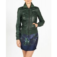 Esta hELium Women Bomber Leather Jackets