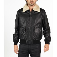 Romano classic pilot style leather jacket by hElium