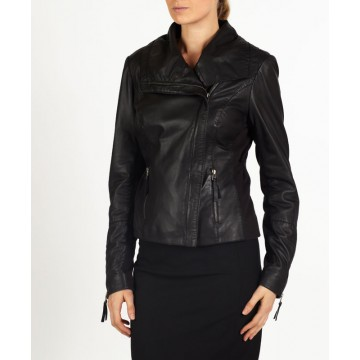 Nyla leather bomber/biker style jacket by hElium