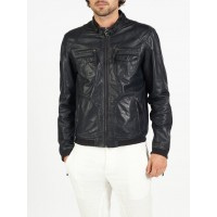 Nino classic bomber and biker leather jacket by hElium