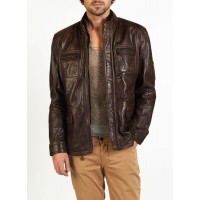 Tino safari style leather jacket by hElium