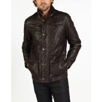 Luca quality designer leather jacket by hElium