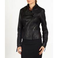 Nyla leather bomber/biker style jacket by hElium